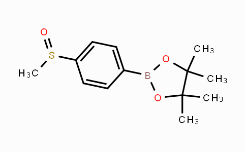 1016641-70-5 | 4,4,5,5-tetramethyl-2-(4-(methylsulfinyl)phenyl)-1,3,2-dioxaborolane