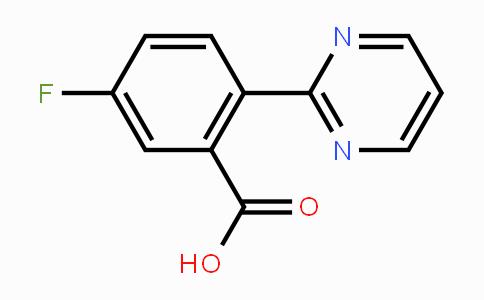 1293284-57-7 | 5-fluoro-2-(pyrimidin-2-yl)benzoic acid