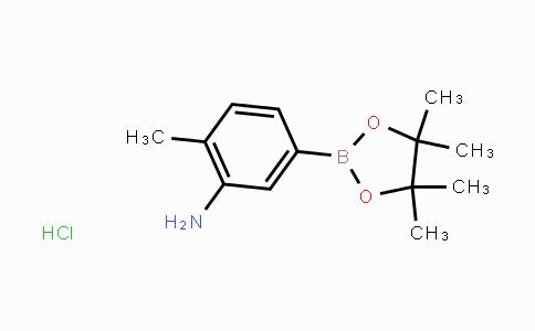 850567-52-1 | 2-methyl-5-(4,4,5,5-tetramethyl-1,3,2-dioxaborolan-2-yl)aniline hydrochloride