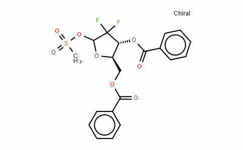 122111-11-9 | 2-Deoxy-2,2-difluoro-D-erythro-pentofuranose-3,5-dibenzoate-1-methanesulfonate