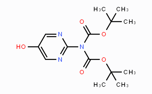 914377-34-7 | Imidodicarbonic acid, 2-(5-hydroxy-2-pyrimidinyl)-, 1,3-bis(1,1-dimethylethyl) ester
