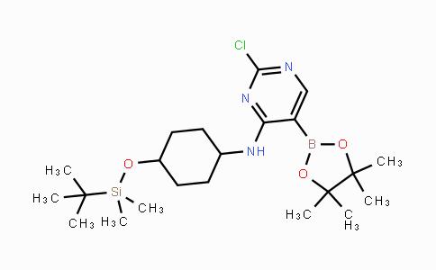 DY444584 | [4-(tert-Butyl-dimethyl-silanyloxy)-cyclohexyl]-[2-chloro-5-(4,4,5,5-tetramethyl-[1,3,2]dioxaborolan-2-yl)-pyrimidin-4-yl]-amine