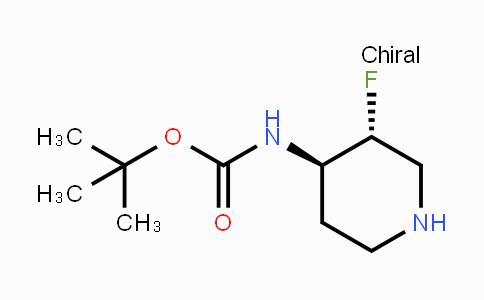trans-4-(Boc-amino)-3-fluoropiperidine