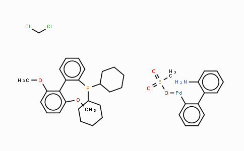 1445085-82-4 | (2-Dicyclohexylphosphino-2',6'-dimethoxybiphenyl)[2-(2'-amino-1,1'-biphenyl)]palladium(II) methanesulfonate