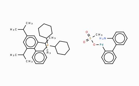 1445085-55-1 | Methanesulfonato(2-dicyclohexylphosphino-2',4',6'-tri-i-propyl-1,1'-biphenyl)(2'-amino-1,1'-biphenyl-2-yl)palladium(II)