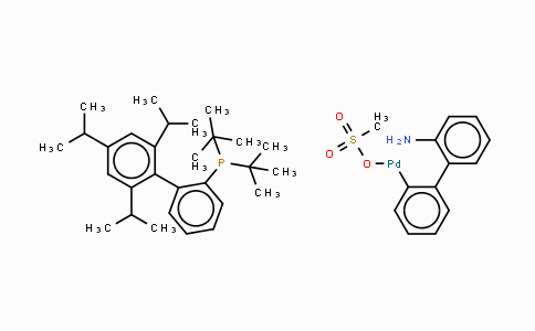 1447963-75-8 | Methanesulfonato(2-di-t-butylphosphino-2',4',6'-tri-i-propyl-1,1'-biphenyl)(2'-amino-1,1'-biphenyl-2-yl)palladium(II)