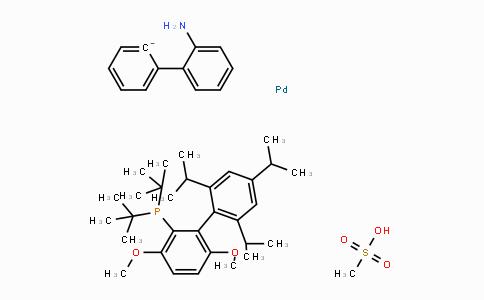 1536473-72-9 | [(2-Di-tert-butylphosphino-3,6-dimethoxy-2',4',6'-triisopropyl-1,1'-biphenyl)-2-(2'-amino-1,1'-biphenyl)]palladium(II) methanesulfonate