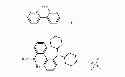1445085-87-9 | [2-(dicyclohexylphosphino)-2'-(N,N-dimethylamino)-1,1'-biphenyl]-2-(2'-amino-1,1'-biphenyl)]palladium(II) methanesulfonate