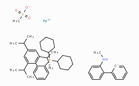 1599466-81-5 | Methanesulfonato(2-dicyclohexylphosphino-2',4',6'-tri-i-propyl-1,1'-biphenyl)(2'-methylamino-1,1'-biphenyl-2-yl)palladium(II)