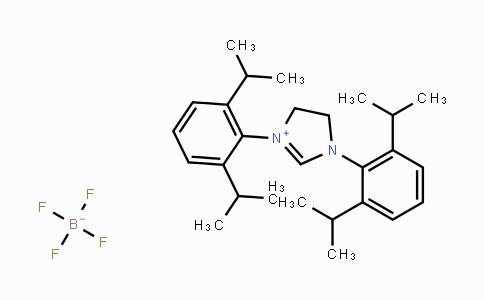 282109-83-5   1,3-Bis(2,6-diisopropylphenyl)-4,5-dihydroimidazolium tetrafluoroborate