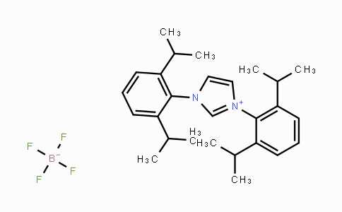 286014-25-3 | 1,3-Bis(2,6-diisopropylphenyl)-1H-imidazol-3-ium tetrafluoroborate