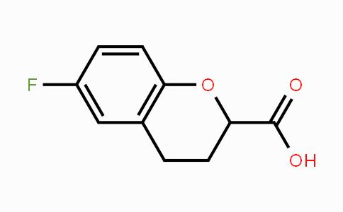 129050-20-0 | 6-Fluoro-3,4-dihydro-2H-1-benzopyran-2-carboxylic acid