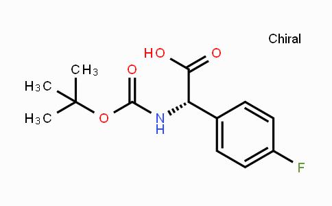 142186-36-5 | (S)-N-Boc-4-Fluorophenylglycine