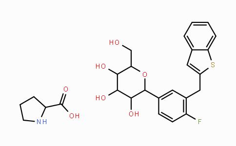 MC445264 | 951382-34-6 | L-脯氨酸与(1S)-1,5-脱水-1-C-[3-(苯并[b]噻吩-2-基甲基)-4-氟苯基]-D-山梨糖醇的化合物