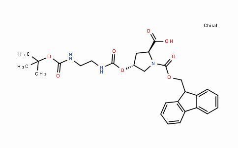 187223-15-0 | (2S,4R)-4-[[[[2-[[叔丁氧羰基]氨基]乙基]氨基]羰基]氧基]-1,2-吡咯烷二甲酸 1-(9H-芴-9-基甲基)酯