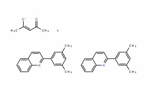 MC445575 | 1056874-46-4 | 双(2-(3,5-二甲基苯基)喹啉-C2,N')(乙酰丙酮)合铱(III)