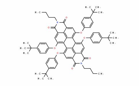 MC445783 | 335654-34-7 | N,N-二丁基-5,6,12,13-四(4-叔丁基苯氧基)-3,4,9,10-苝二酰亚胺
