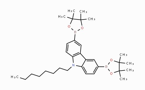 478706-06-8 | 9-辛基-3,6-双(硼酸频那醇酯-2-基)-9H-咔唑