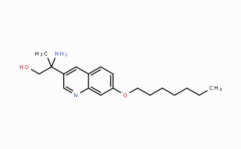 1225229-11-7 | 2-amino-2-(7-(heptyloxy)quinolin-3-yl)propan-1-ol