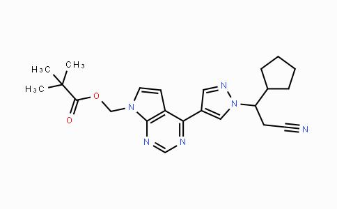 1236033-05-8 | (4-(1-(2-cyano-1-cyclopentylethyl)-1H-pyrazol-4-yl)-7H-pyrrolo[2,3-d]pyrimidin-7-yl)methyl pivalate
