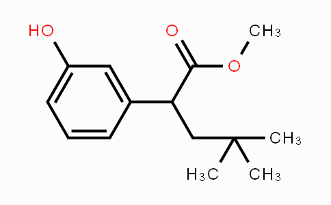 1257397-58-2 | methyl 2-(3-hydroxyphenyl)-4,4-dimethylpentanoate