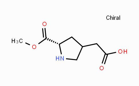 117653-38-0 | 2-((5S)-5-(methoxycarbonyl)pyrrolidin-3-yl)acetic acid