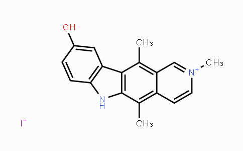 58337-34-1 | 9-hydroxy-2,5,11-trimethyl-6H-pyrido[4,3-b]carbazol-2-ium iodide
