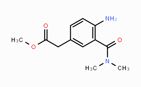 594844-72-1   methyl 2-(4-amino-3-(dimethylcarbamoyl)phenyl)acetate