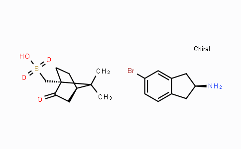 MC447234 | 370861-57-7 | (S)-5-bromo-2,3-dihydro-1H-inden-2-amine ((1R,4R)-7,7-dimethyl-2-oxobicyclo[2.2.1]heptan-1-yl)methanesulfonate