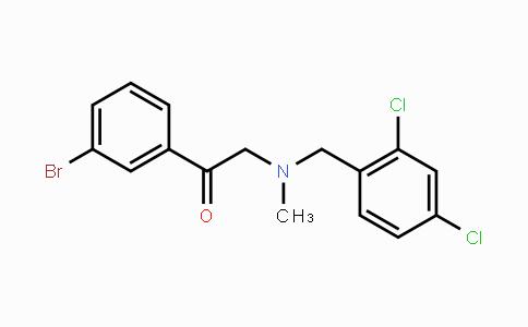 1234366-96-1 | 1-(3-bromophenyl)-2-((2,4-dichlorobenzyl)(methyl)amino)ethanone