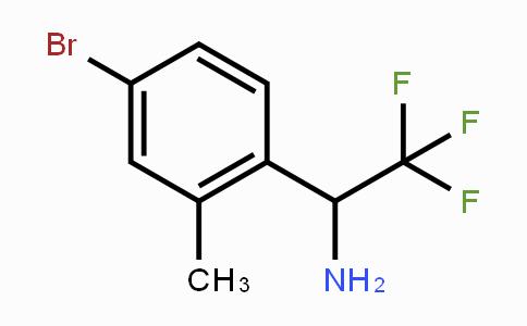1270402-57-7 | 1-(4-bromo-2-methylphenyl)-2,2,2-trifluoroethanamine