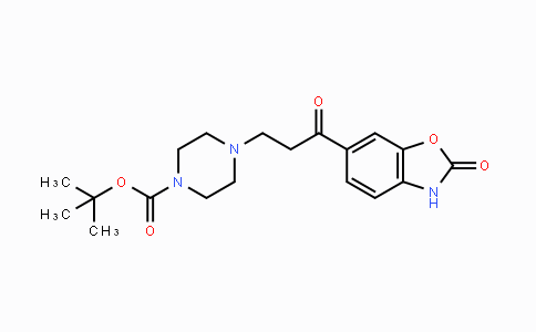 1144037-29-5 | tert-butyl 4-(3-oxo-3-(2-oxo-2,3-dihydrobenzo[d]oxazol-6-yl)propyl)piperazine-1-carboxylate