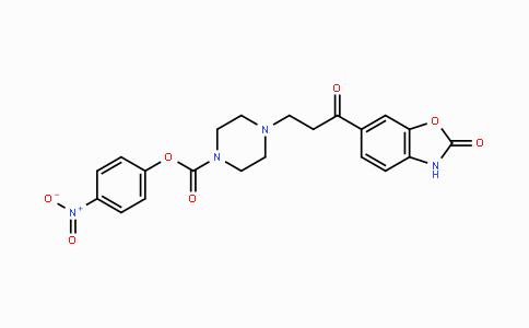 DY447309   1429189-41-2   4-nitrophenyl 4-(3-oxo-3-(2-oxo-2,3-dihydrobenzo[d]oxazol-6-yl)propyl)piperazine-1-carboxylate