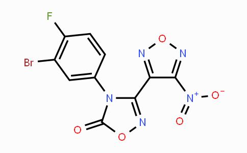 2019140-71-5   4-(3-bromo-4-fluorophenyl)-3-(4-nitro-1,2,5-oxadiazol-3-yl)-1,2,4-oxadiazol-5(4H)-one