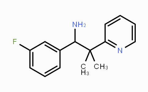 1233072-47-3 | 1-(3-fluorophenyl)-2-methyl-2-(pyridin-2-yl)propan-1-amine