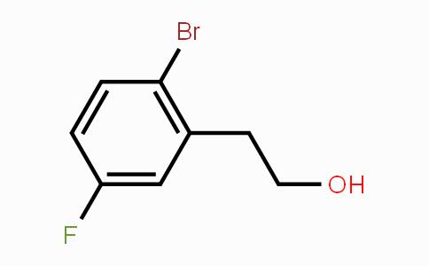 866029-28-9 | 2-(2-bromo-5-fluorophenyl)ethanol