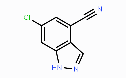 1425932-59-7 | 6-chloro-1H-indazole-4-carbonitrile