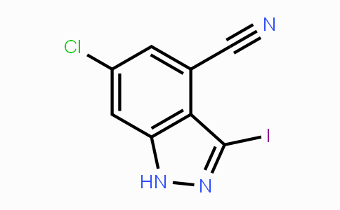 1425932-60-0 | 6-chloro-3-iodo-1H-indazole-4-carbonitrile