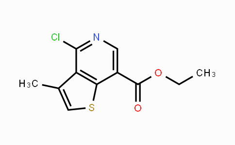 869543-47-5 | ethyl 4-chloro-3-methylthieno[3,2-c]pyridine-7-carboxylate