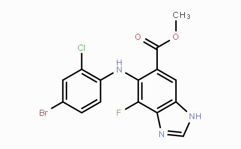 MC447569 | 606143-46-8 | methyl 6-(4-bromo-2-chlorophenylamino)-7-fluoro-3H-benzo[d]imidazole-5-carboxylate