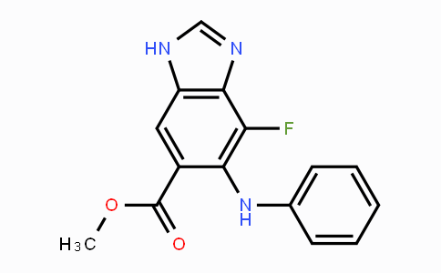 606093-59-8 | methyl 7-fluoro-6-(phenylamino)-3H-benzo[d]imidazole-5-carboxylate