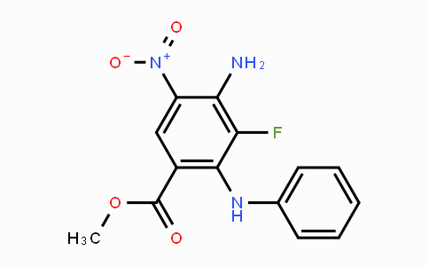MC447571 | 606093-58-7 | methyl 4-amino-3-fluoro-5-nitro-2-(phenylamino)benzoate