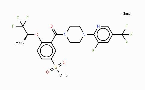845614-11-1 | (S)-[4-(3-氟-5-三氟甲基吡啶-2-基)哌嗪-1-基][5-(甲磺酰基)-2-(2,2,2-三氟-1-甲基乙氧基)苯基]甲酮