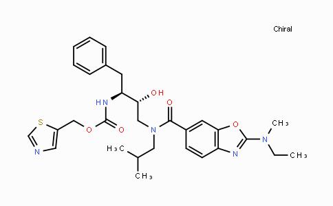1160489-55-3 | thiazol-5-ylmethyl (2S,3R)-4-(2-(ethyl(methyl)amino)-N-isobutylbenzo[d]oxazole-6-carboxamido)-3-hydroxy-1-phenylbutan-2-ylcarbamate