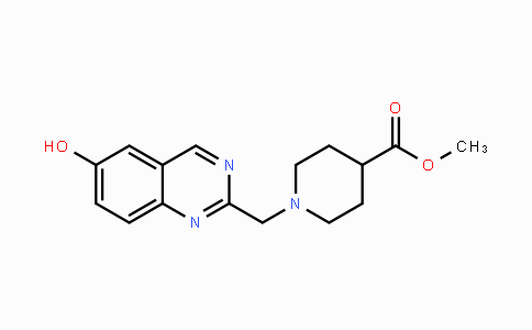 MC447673 | 1393448-82-2 | methyl 1-((6-hydroxyquinazolin-2-yl)methyl)piperidine-4-carboxylate
