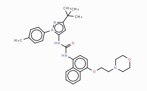 MC447680 | 285983-48-4 | 1-[2-(4-甲基苯基)-5-叔丁基吡唑-3-基]-3-[4-(2-吗啉-4-基乙氧基)萘-1-基]脲