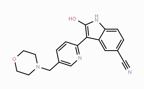DY447682 | 612487-72-6 | 2-hydroxy-3-(5-(morpholinomethyl)pyridin-2-yl)-1H-indole-5-carbonitrile