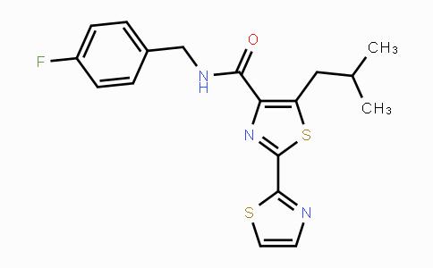 DY447686 | 960527-22-4 | N-(4-fluorobenzyl)-5-isobutyl-2,2'-bithiazole-4-carboxamide