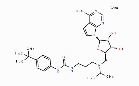DY447687 | 1338466-77-5 | 1-(3-((((2R,3S,4R,5R)-5-(4-amino-7H-pyrrolo[2,3-d]pyrimidin-7-yl)-3,4-dihydroxy-tetrahydrofuran-2-yl)methyl)(isopropyl)amino)propyl)-3-(4-tert-butylphenyl)urea