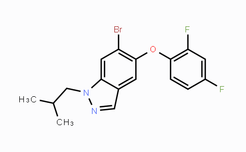 DY447691 | 765914-75-8 | 6-bromo-5-(2,4-difluorophenoxy)-1-isobutyl-1H-indazole